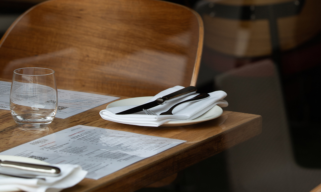 Prospect Hill Camberwell, retirement living - dining table in restaurant