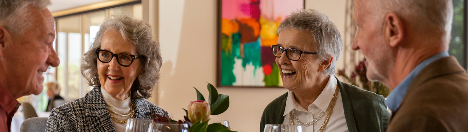 Prospect Hill Camberwell, retirement living - group dining, head shots