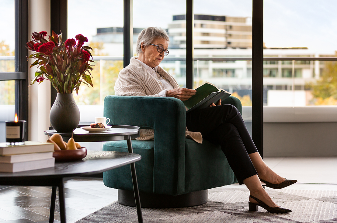 Prospect Hill Camberwell, retirement living - lady reading