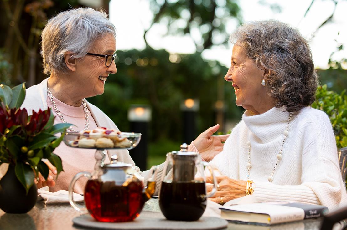 Prospect Hill Camberwell, retirement living - ladies having tea